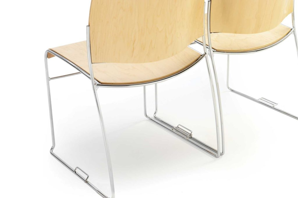ease stacking conference chair ganging device