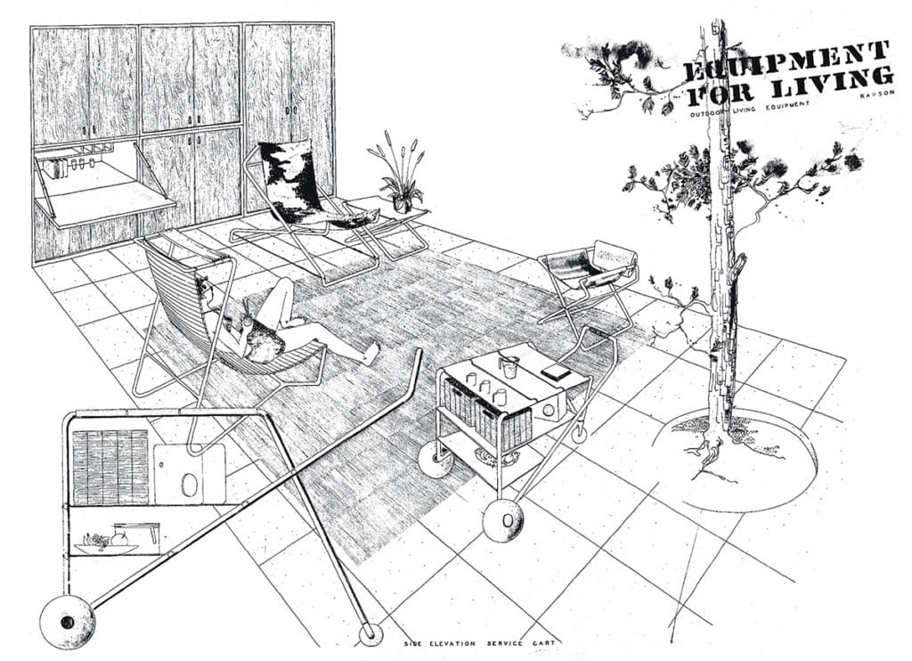 Ralph Rapson sketch of Equipment for Living