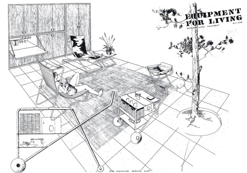 Ralph Rapson sketch of Equipment for Living