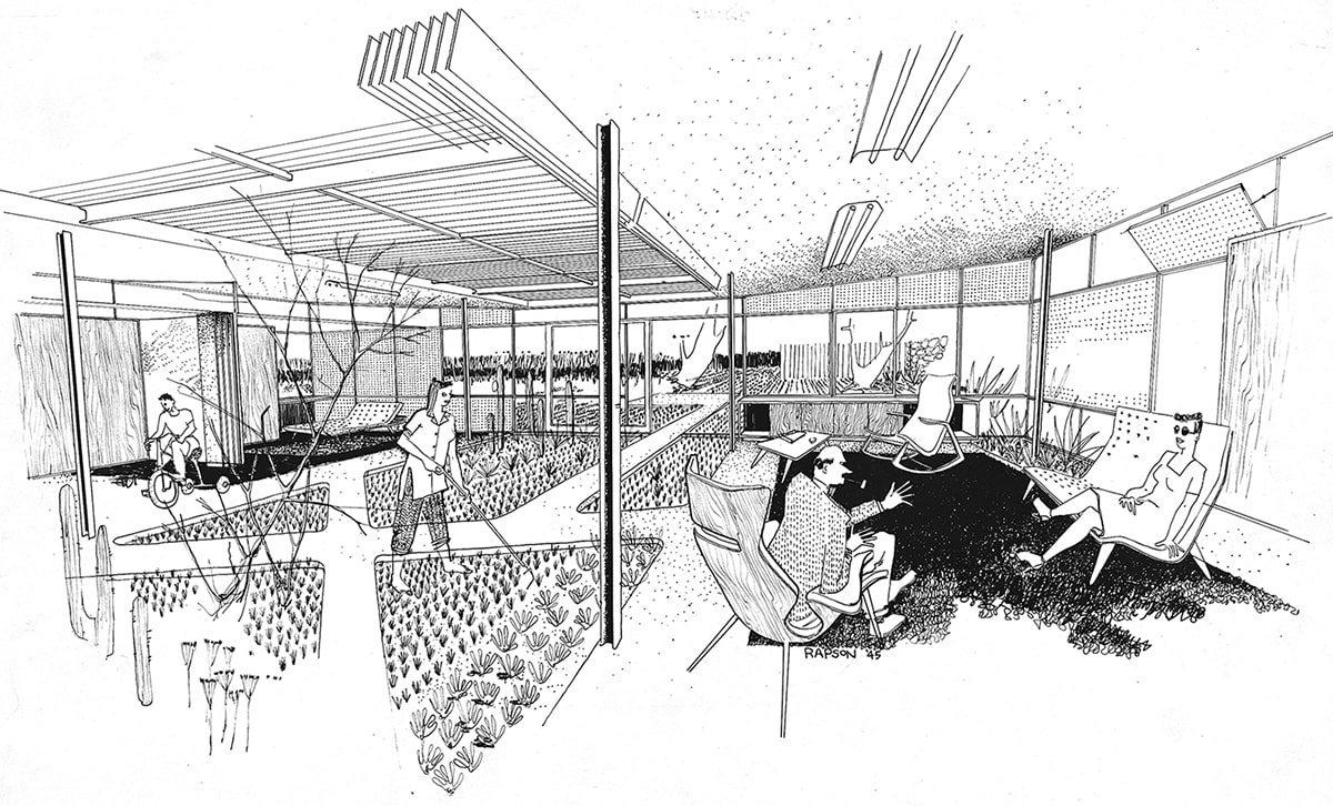 Ralph Rapson sketch of Greenbelt