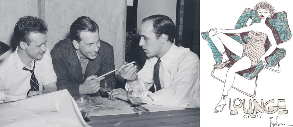 Ralph Rapson and colleagues working