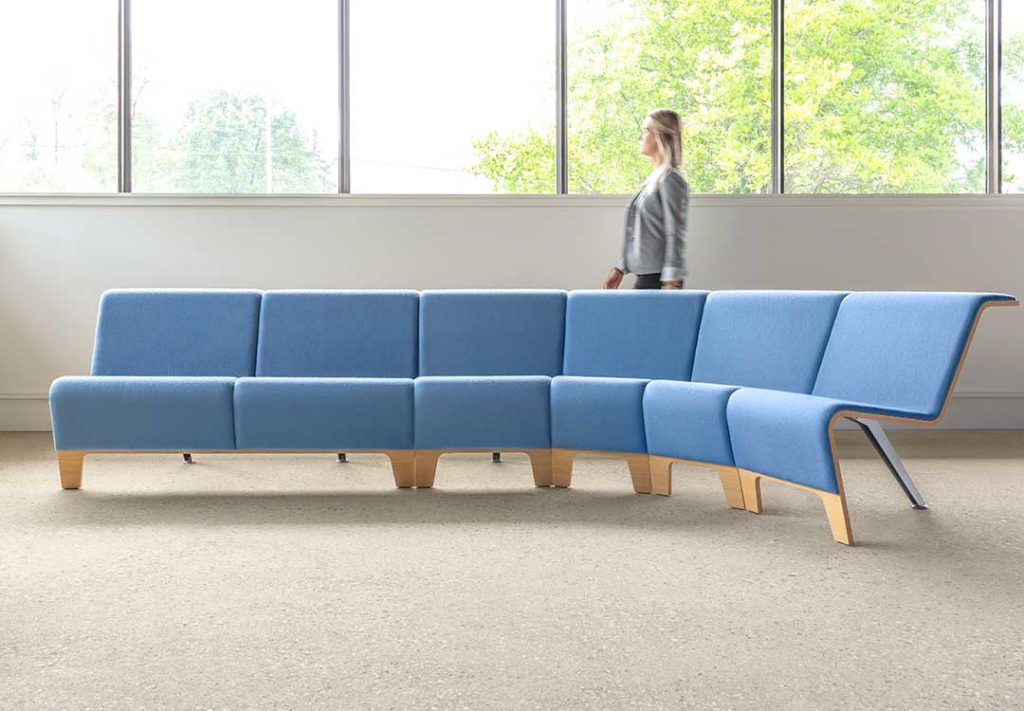 Back Bench Curved Lounge